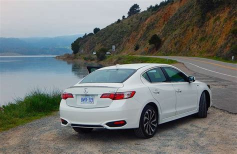 2015 acura ilx in white rear view white acuras
