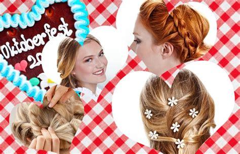 frisuren zum oktoberfest selber machen fesche wiesn frisuren step by step erkl 228 rt gofeminin