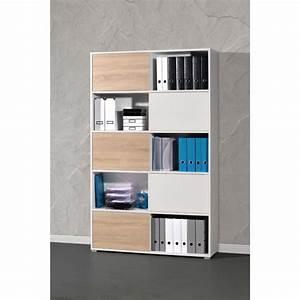 Meuble Bureau Rangement : meuble rangement bureau design bureau blanc laqu lepolyglotte ~ Teatrodelosmanantiales.com Idées de Décoration