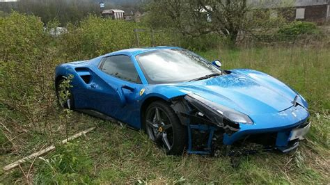 Another Ferrari 488 Crashes In The Uk