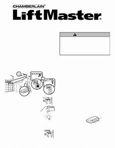 Chamberlain Liftmaster 373p Owner U0026 39 S Manual