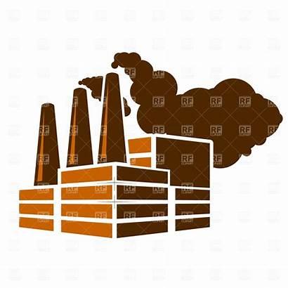 Factory Clipart Smoke Chimney Cartoon Vector Clip