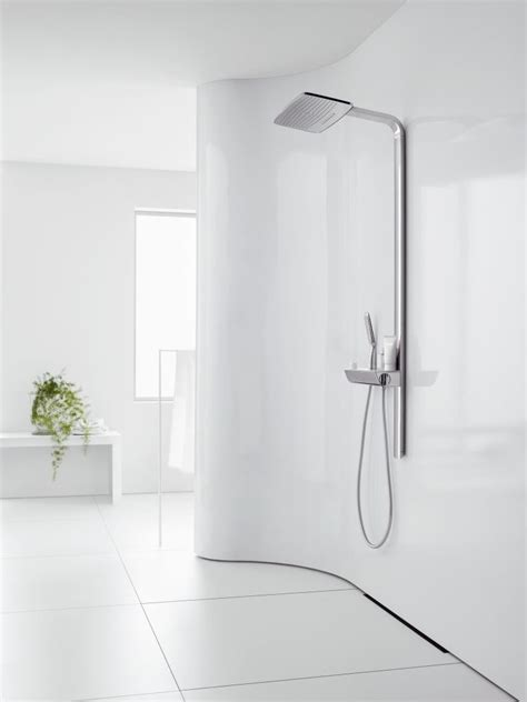 Hansgrohe Bathroom Fixtures by The Hansgrohe Raindance E Showerpipe Fits Perfectly With