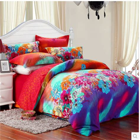 luxury modern floral teal queen size Teen Bedding Sets [OBQSN072466]   $103.99