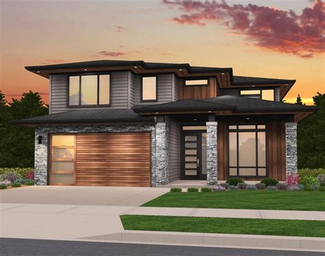 Rosy House Plan Modern Two Story House Plan by Mark Stewart