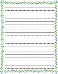writing paper printable for kids kiddo shelter With free printable lined paper template for kids