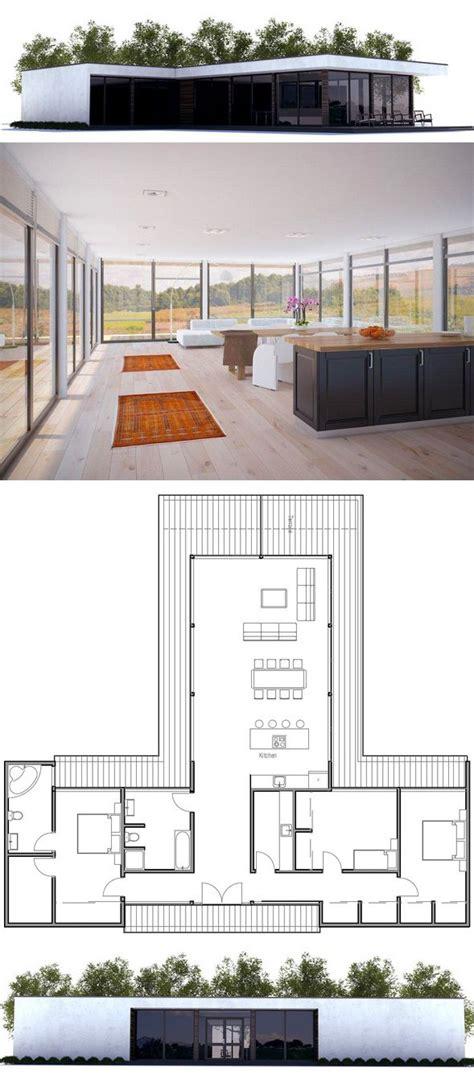 An Open Floorplan Highlights A Minimalist Design by Modern Minimalist House Plan House Plans Contemporary