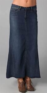 Levi Long Denim Skirts 2014-2015 | Fashion Trends 2016-2017