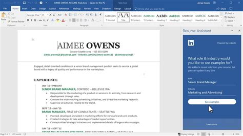 How To Put Resume On Linkedin by Insider Look At Resume Assistant That Brings The Power Of