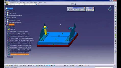 catia  assembly workbench constraints  move toolbars