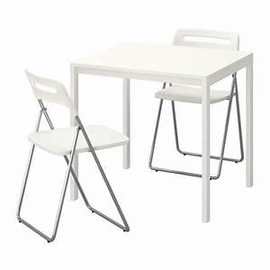 Tables Pliantes Ikea : melltorp nisse table et 2 chaises pliantes ikea ~ Farleysfitness.com Idées de Décoration