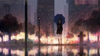 Rain Anime Umbrella Wallpapers 4k Resolution 1440p