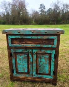 Zebra Decor For Bedroom by Handmade Reno Rustic Turquoise And Brown Stain Cabinet