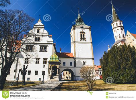 Town Hall And St James Cathedral In Town Levoca Slovakia