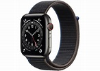 Apple Watch Series 6 GPS + Cellular 44mm Graphite Stainless Steel with Charcoal Sport Loop A2356 - 44mm