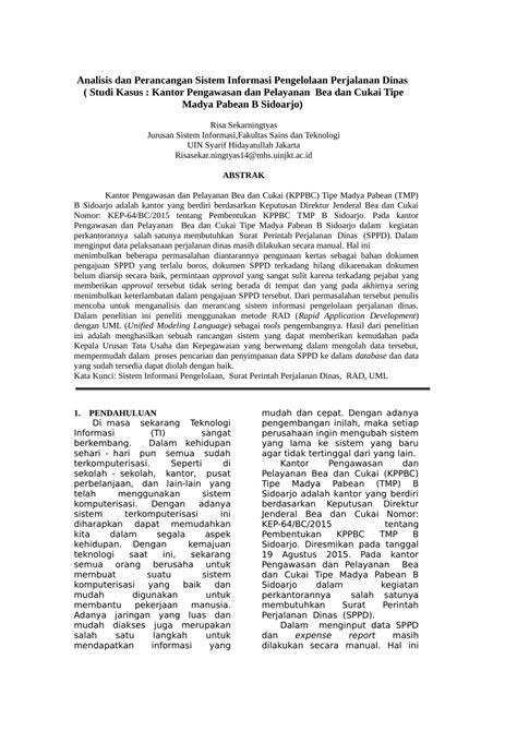 (PDF) Jurnal Analisis dan Perancangan Sistem Informasi