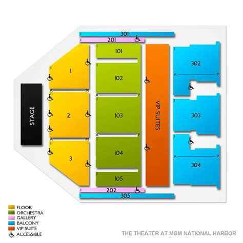 Mgm Grand Floor Plan 2017 by The Theater At Mgm National Harbor Seating Chart Vivid Seats