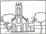 Coloring Abbey Monastery Town Pages Coloringpages101 Template Buildings sketch template