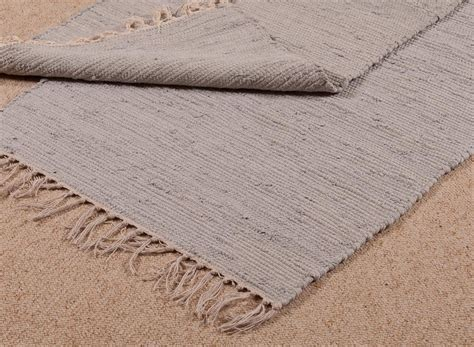 cotton runner blue grey thick long carpet casa bella furniture