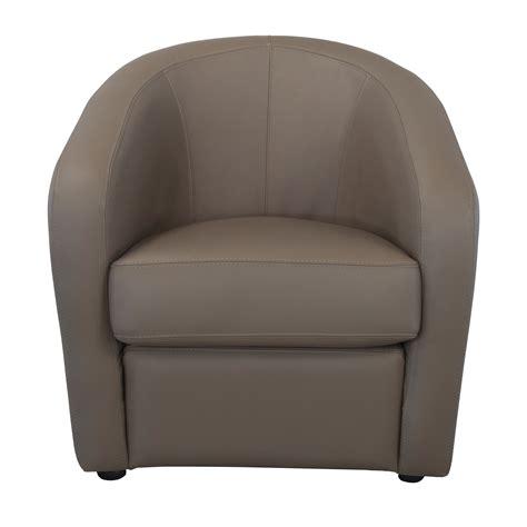 cuisine couleur taupe fauteuil cabriolet en cuir avec coussin d 39 assise