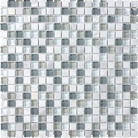 Shop Allen + Roth Venatino Stone And Glass Uniform Squares