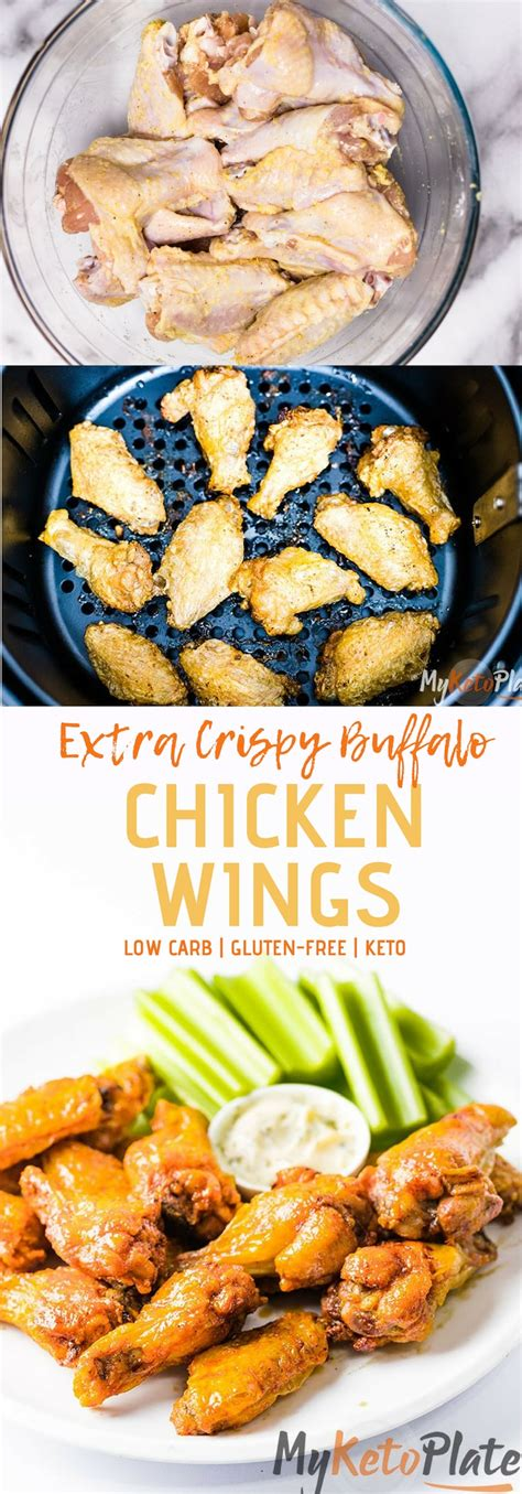 wings chicken fryer air buffalo keto crispy sauce