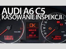 Kasowanie inspekcji serwisowej w Audi A6 C5 przegląd
