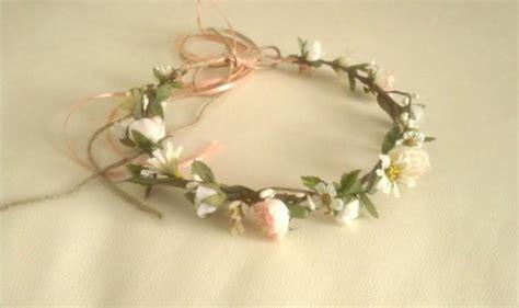 Wedding Accessories For Girls : Rustic Chic Peach Spring Wedding Hair Accessories Woodland