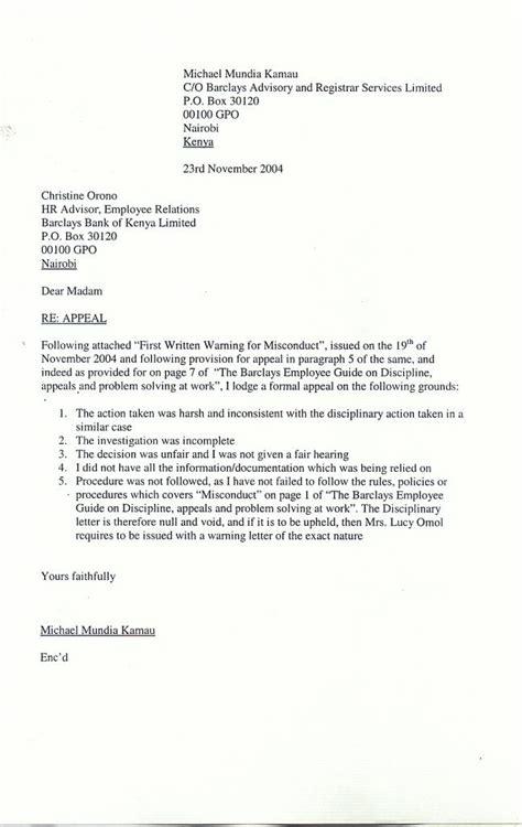 warning letter  employee salescvinfo