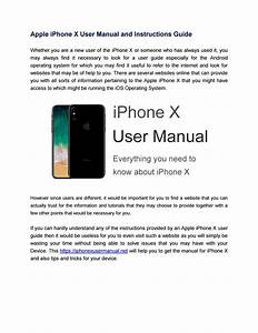 Apple Iphone X User Manual Online By Manualdevice