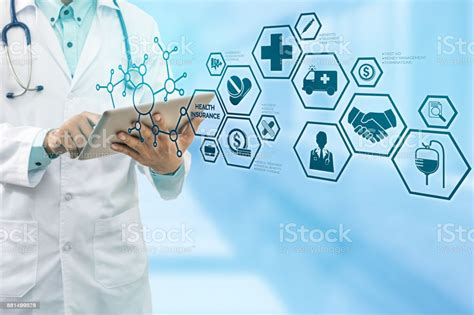 Download in under 30 seconds. Doctor With Health Insurance Modern Interface Icon Stock Photo - Download Image Now - iStock