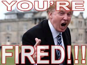 Image result for trump says your fired