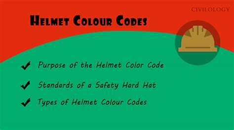 Maybe you would like to learn more about one of these? Safety Helmet Colour Code in Construction - Hard Hats - Civilology