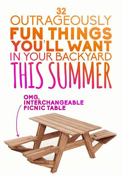 Things Backyard Fun Summer Want Outrageously Ll