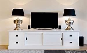 Tv Schrank Mit Schiebetüren : tv schrank wei landhaus lowboard wei mit schiebet ren breite 250 cm ~ Markanthonyermac.com Haus und Dekorationen