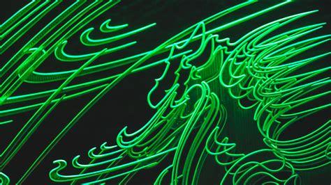 wallpaper  neon green glow light