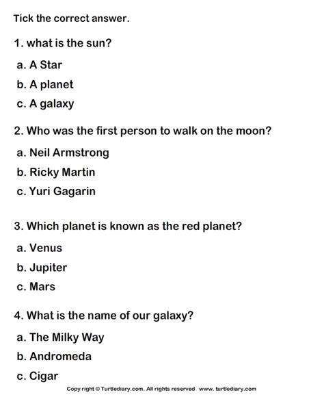 solar system planets worksheet turtle diary