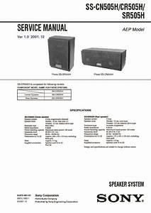 Sony Ss-cn505h  Ss-cr505h  Ss-sr505h Service Manual