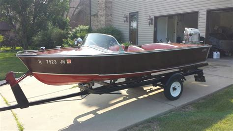 Runabout Boat Wood by Carver Boats Special Runabout Wood 1953 For Sale For