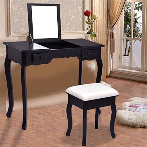 flip top vanity desk giantex vanity set dressing table with flip top mirror