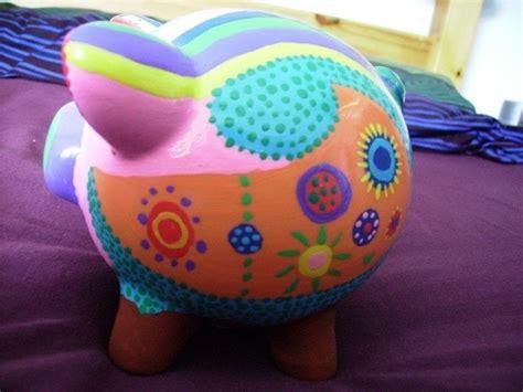 painted piggy bank  money bank decorating  cut