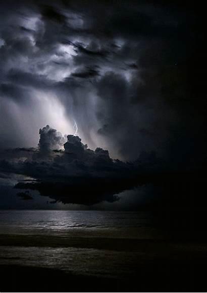 Lightning Amazing Dark Strikes Skies Nature Hell