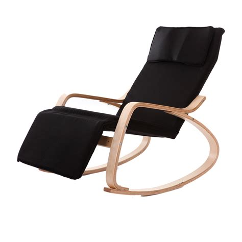 modern chaise lounge chairs living room comfortable relax wood rocking chair with rest design
