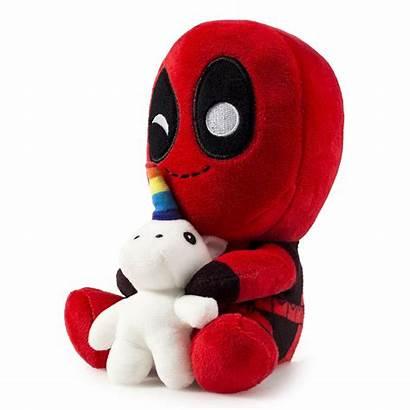 Unicorn Deadpool Plush Riding Marvel Holding Super