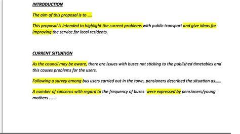 cae proposal  sentences  writing tips youtube