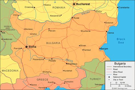 bulgaria map  satellite image