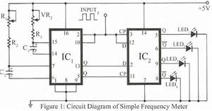 simple circuit schematic frequency meter eltronicschool With gb circuit tester