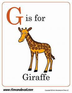 G Is For Giraffe Letter G Coloring Page PDF