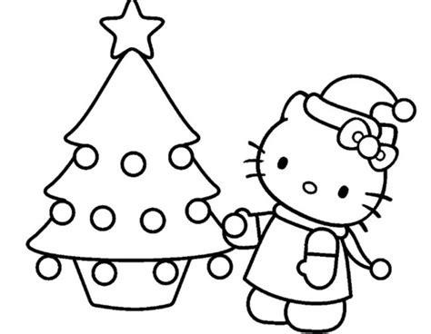 Hello Kitty Da Colorare Per Natale