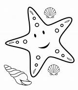 Coloring Pages Fish Starfish Printable Print Animals Mesmerizing Crafts Beauty Cliparts sketch template